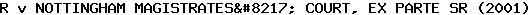 [2001] EWHC Admin 802