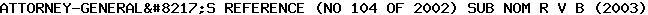 [2003] EWCA Crim 1031