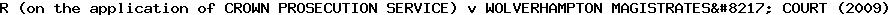 [2009] EWHC 3467 (Admin)